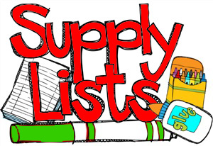 Supply Lists!