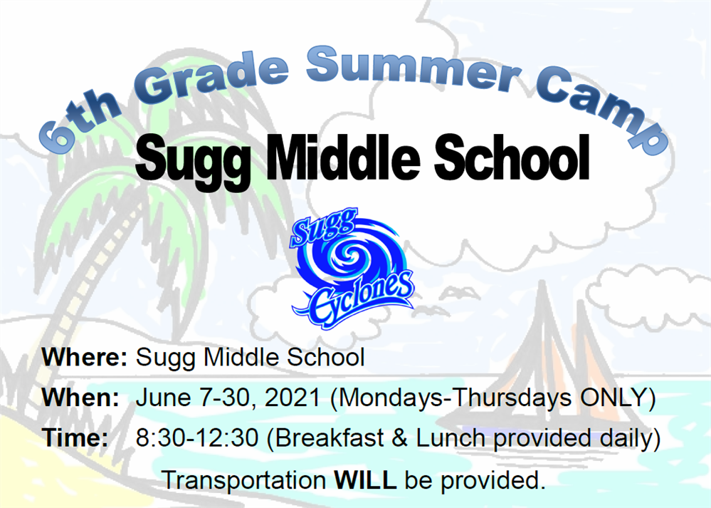 6th Grade Summer Camp