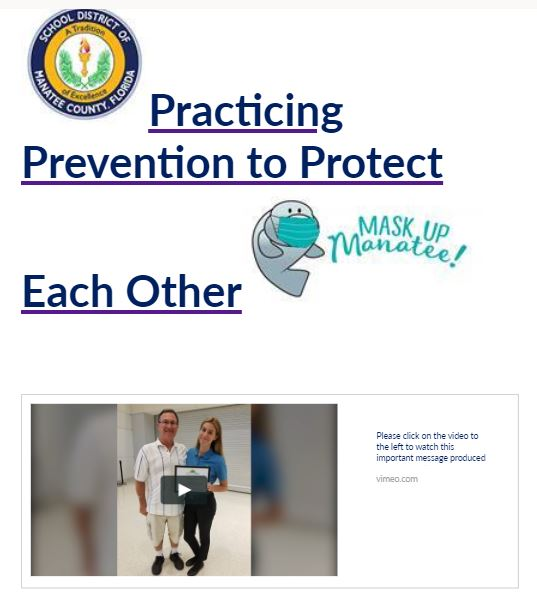 Stay vigilant when it comes to practicing prevention.  Click here for video.