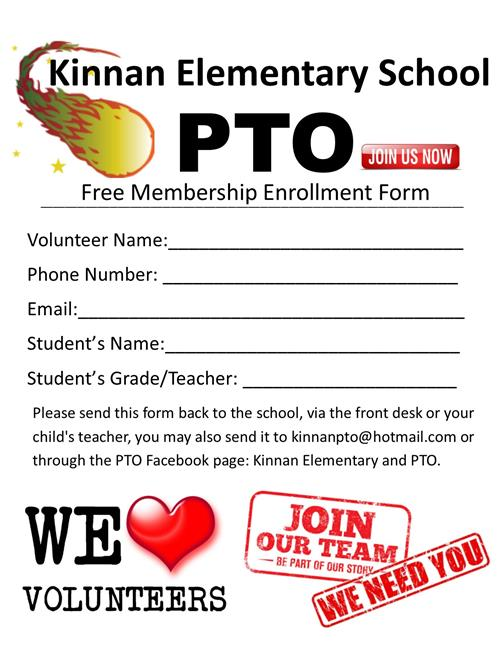 SIGN UP FOR PTO