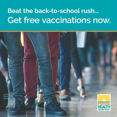 Beat the back-to-school rush...  Get vaccinations now.
