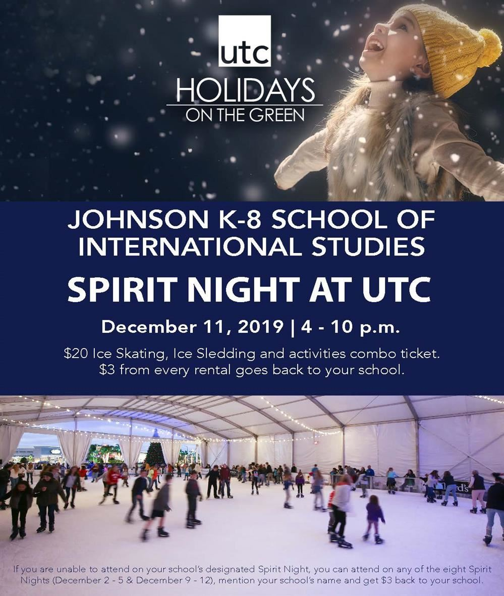 Spirit Night at UTC (Ice Skating)