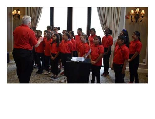 Students From Tillman Elementary School in Palmetto Performed a song at the Fifth Annual Books For Kids Luncheon at Lakewood
