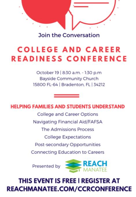 College and Career Readiness Conference - presented by REACH Manatee