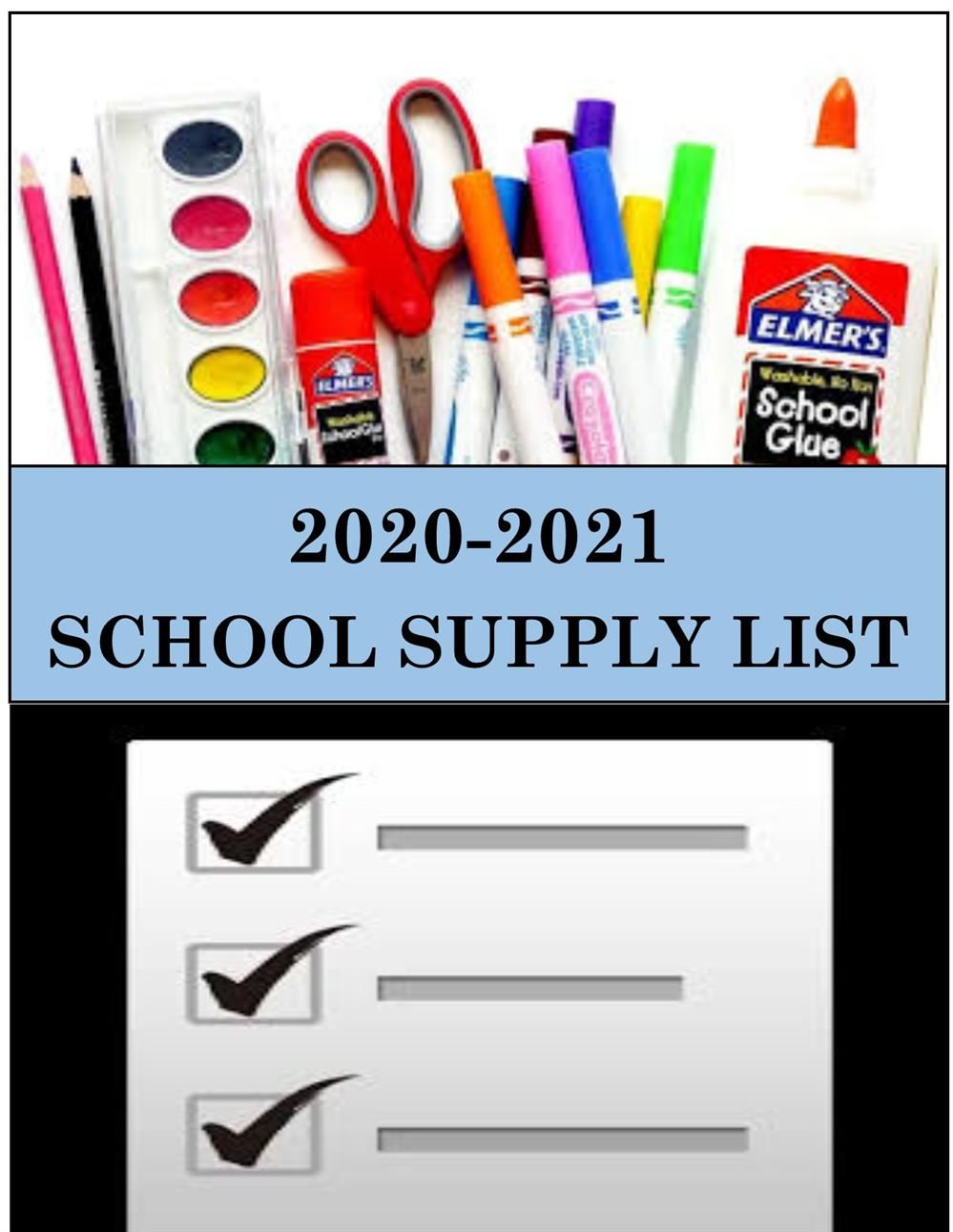 2020-2021 School Supply List