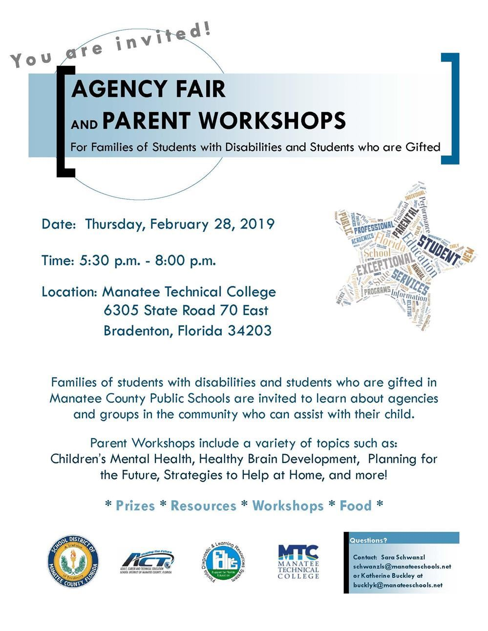 2019 ESE Agency Fair and Parent Workshop